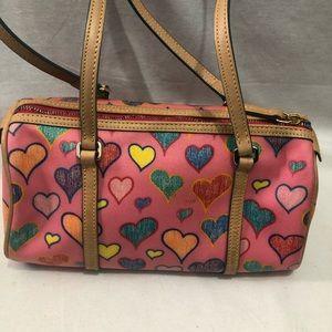 Dooney & Bourke Mini Barrel purse crayon Heart